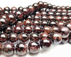 9mm Red Garnet Round Beads With High Luster