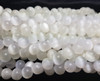 6mm Selenite Crystal Smooth Round Beads 15 Inch Strand