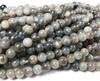 6.5mm Labradorite Light Round Beads With Blue Iridescence