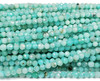 3mm Finely Cut Blue Amazonite Faceted Beads