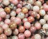 6mm Mongolian Rhodonite Smooth Round Beads