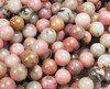 10mm Mongolian Rhodonite Smooth Round Beads
