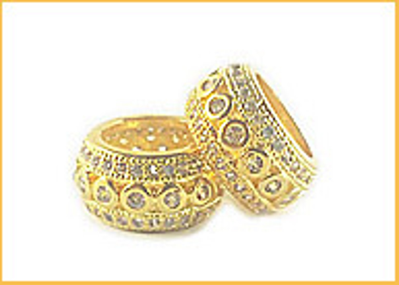 Large Hole CZ Beads