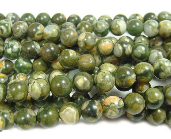 6mm Rhyolite Jasper Round Beads