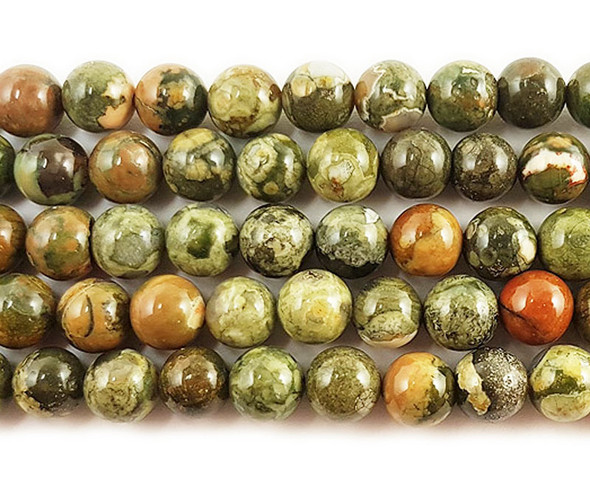 8mm Rhyolite Jasper Round Beads