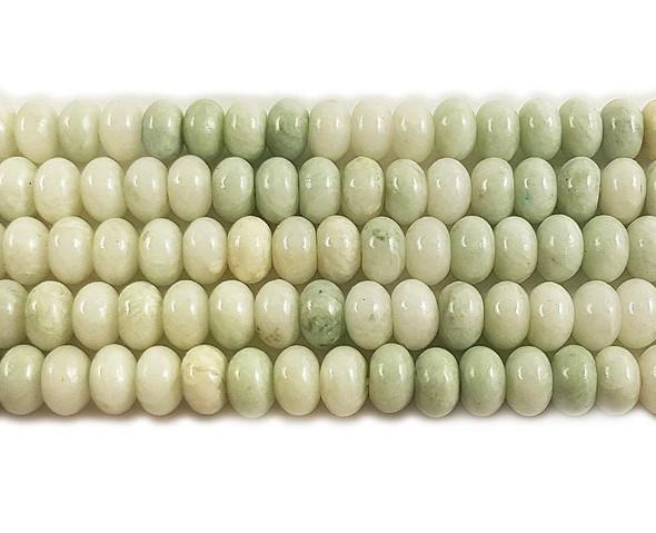 6x10mm Jadeite Smooth Rondelle Beads