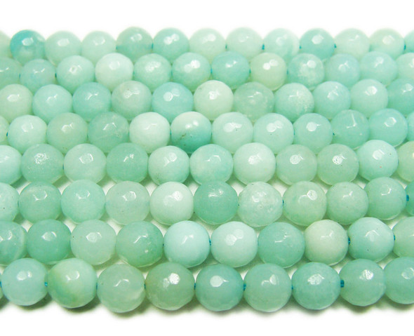 6mm Natural amazonite faceted round beads