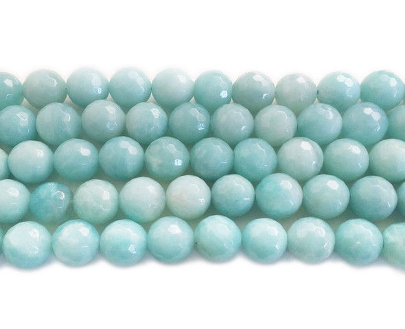10mm Natural amazonite faceted round beads