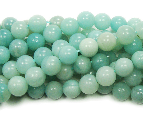 10mm Amazonite (Grade A) natural round beads