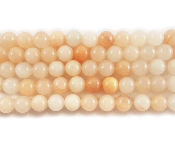 8mm Pink aventurine round beads