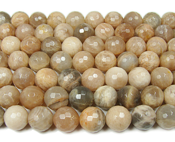 12mm Sun stone faceted round beads