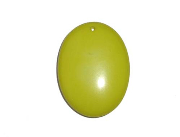 30x40mm Apple green glass oval pendant