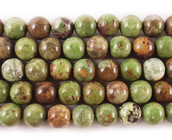 8mm African green opal round beads