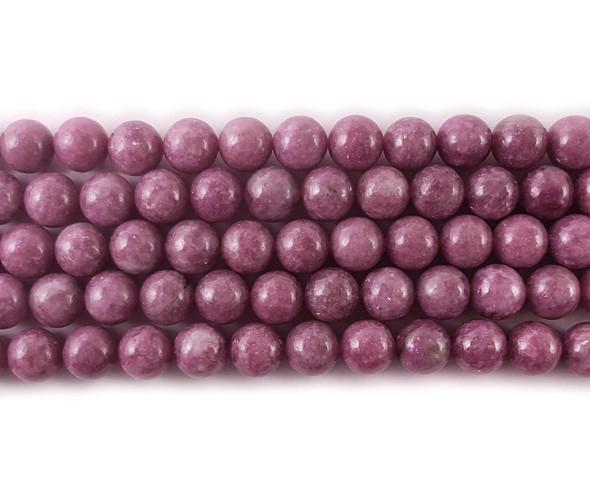 4mm Lepidolite Round Beads