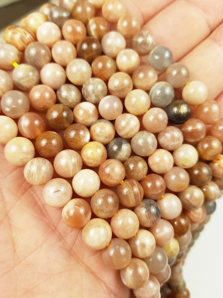 8mm Multi color moonstone round beads