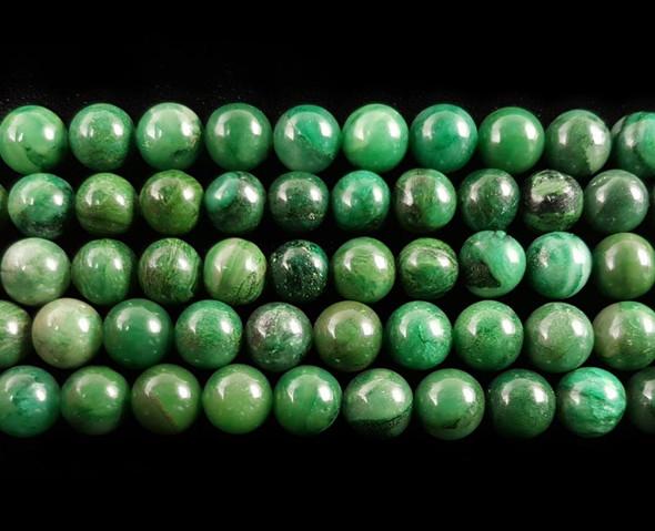 8mm Verdite round beads
