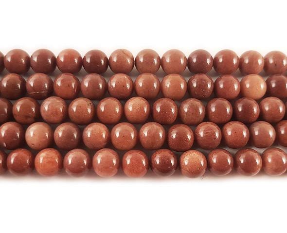 8mm African blood jasper round beads