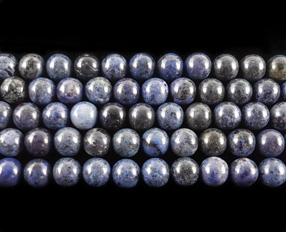 10mm Dumortierite round beads