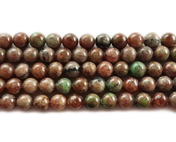 10mm Kashgar garnet round beads