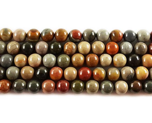 10mm Polychrome Jasper Round Beads