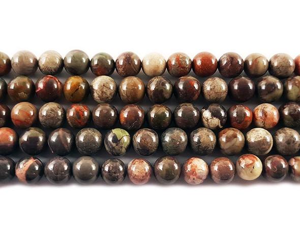 4mm Rainforest agate round beads