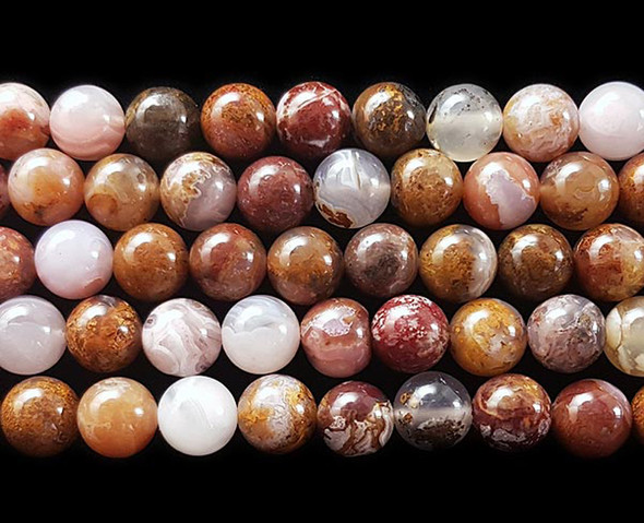 6mm High Quality Aqua Nueva Agate Round Beads
