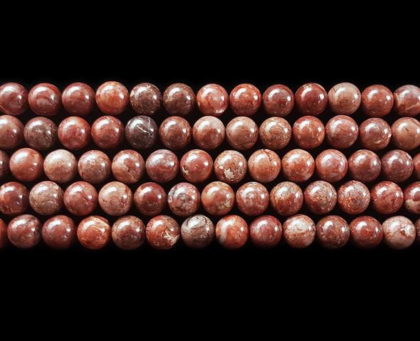 6mm Pomergranite Jasper Round Beads