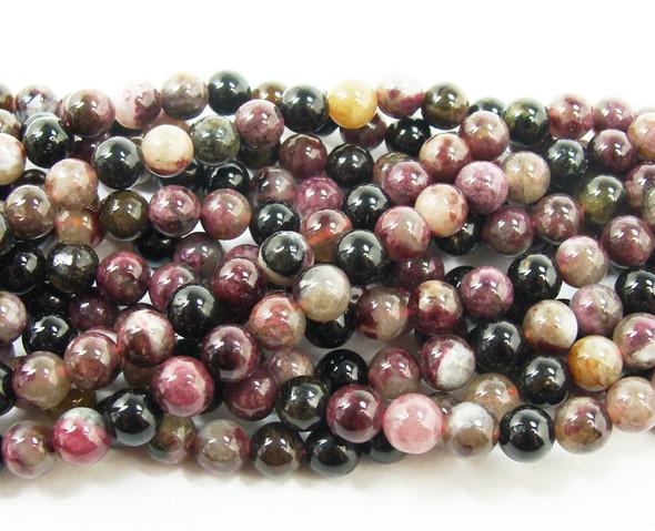 8mm Tourmaline round beads
