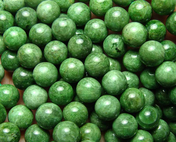 10mm  15 inches Diopside smooth round beads