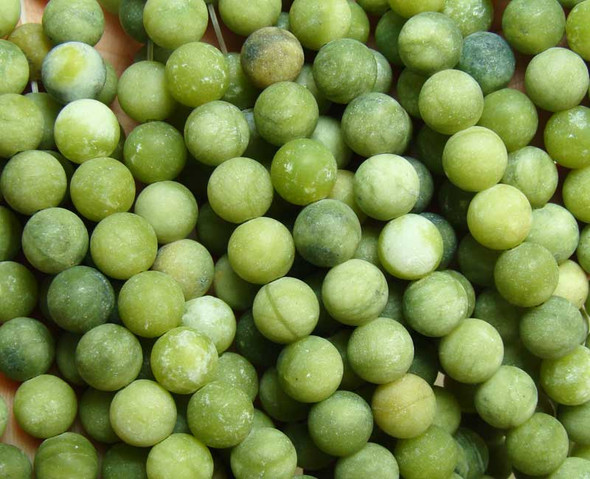 10mm 15.5 Inches Taiwan Green Jade Matte Round Beads