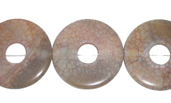 40mm Antiqued agate donut beads/pendants
