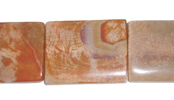 30x40mm Antiqued Agate Rectangle Beads/Pendants