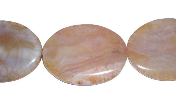 30x40mm   Antiqued agate oval beads