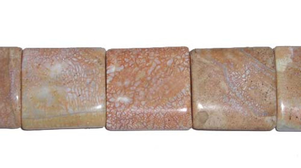 20x20mm Antiqued Agate Square Beads
