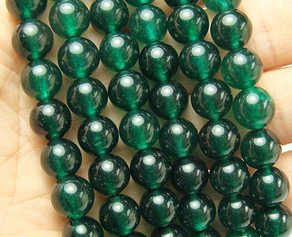 10mm Dark Sea Green Moss Jade Jade Round Beads