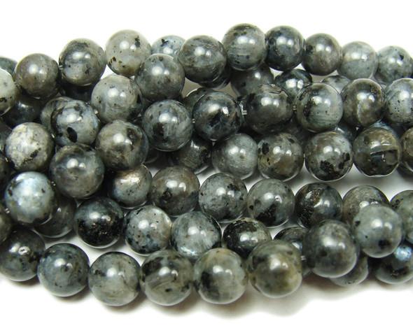 8mm Dark Labradorite Smooth Round Beads