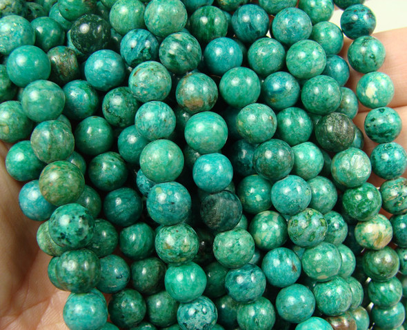 8mm Mint green jade round beads