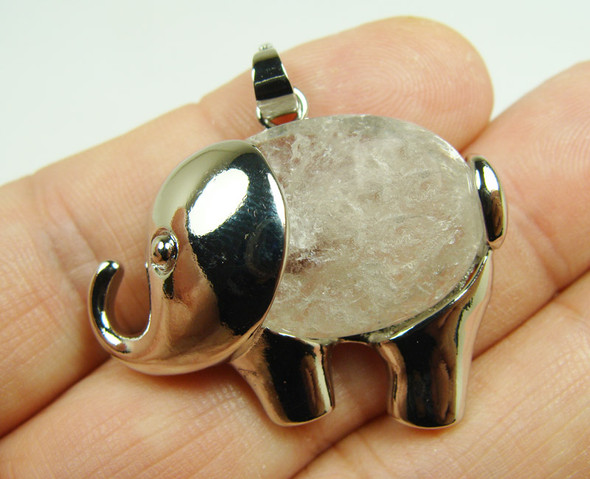 20x27mm Crystal Small Elephant Pendant
