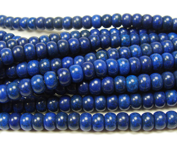 4x6mm Lapis blue howlite rondelle beads