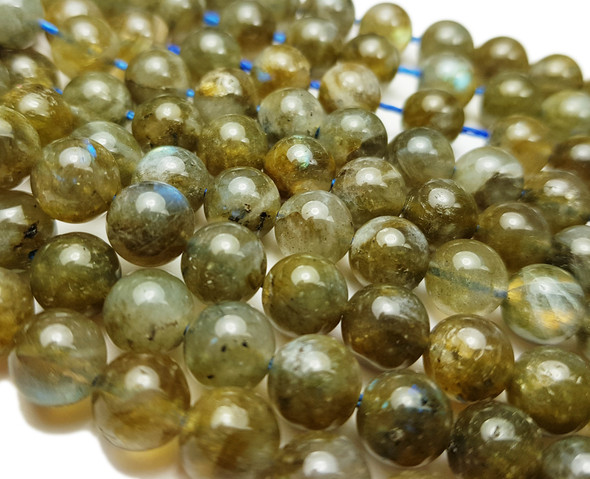 8mm Labradorite Round Beads With Blue Iridescence