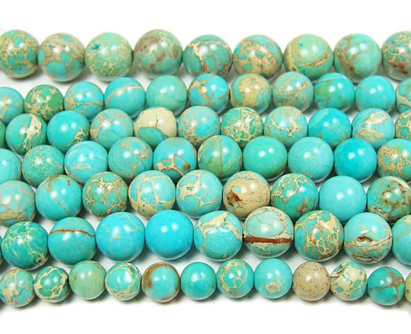 10mm Light Green Turquoise Imperial Jasper Round
