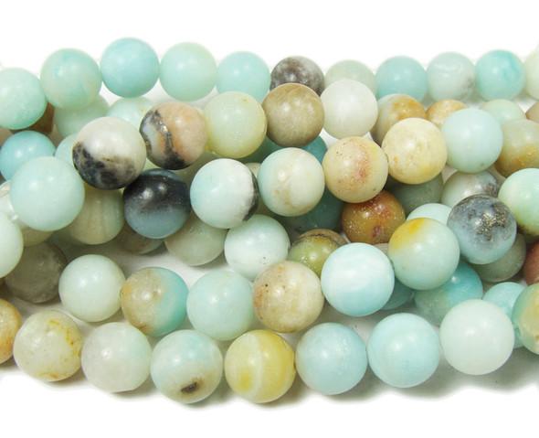 10mm Amazonite Half-Matte Round Beads