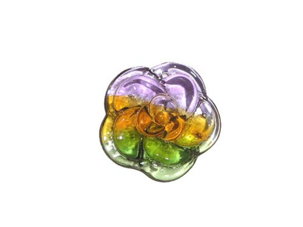 30mm  pack of 2 Murano style glass rose pendant