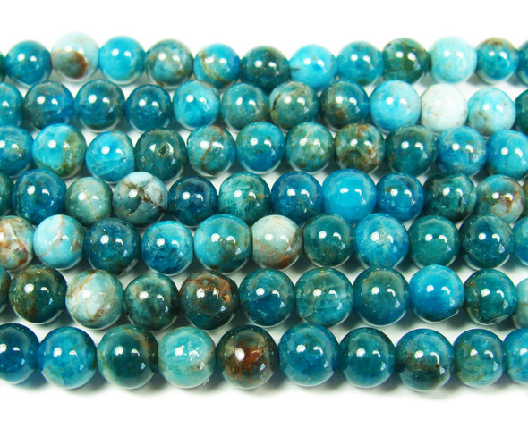 12mm  15.5 inches Natural blue apatite smooth round beads