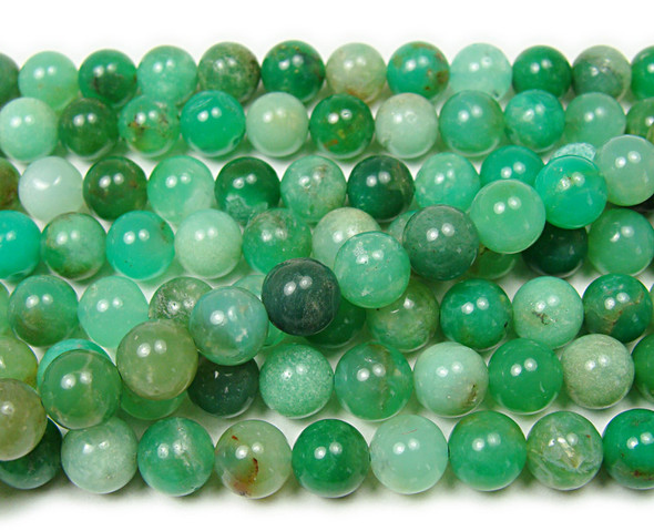 8mm 15.5 Inches Australian Chrysoprase Round Beads