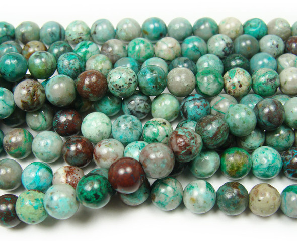 7.6mm 15.5 Inches Chrysocolla Round Beads