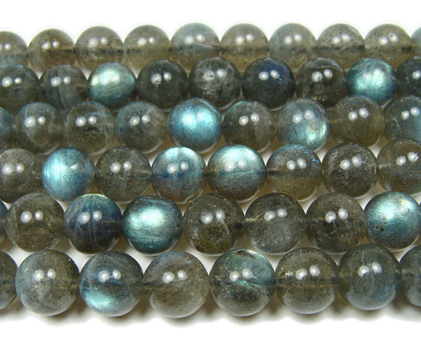 9.5mm Top Quality Labradorite Smooth Round Beads