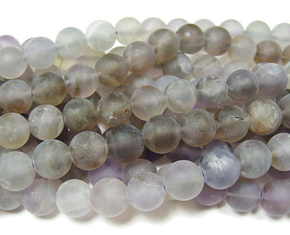"8mm  15.5"" strand Light amethyst matte round beads"