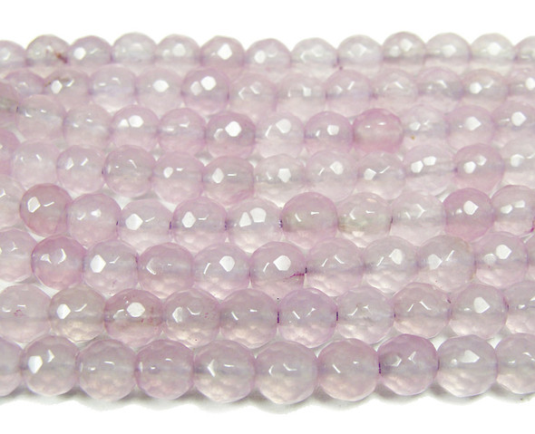 6mm Lilac jade faceted round