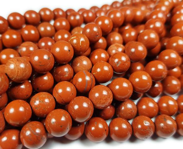 12mm 33 Beads Red Jasper Round Beads